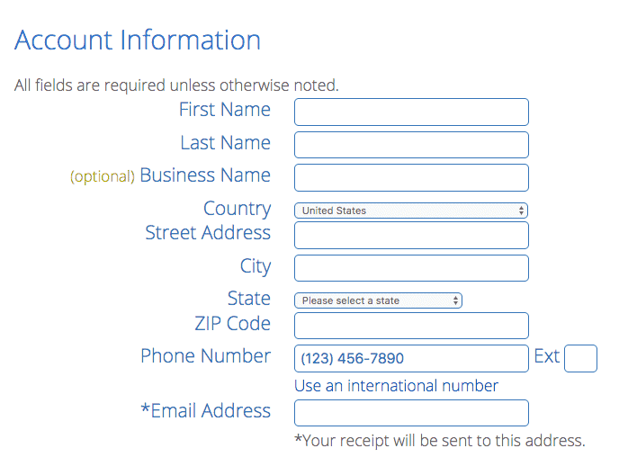 Provide Personal Details